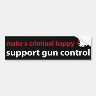 Comment rendre un criminel heureux ? Contrôle des  Autocollant De Voiture