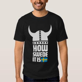 Comment Suédois il est T-shirt foncé de base drôle