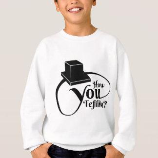 """""""Comment vous Tefillin"""" (noir) Sweatshirt"""