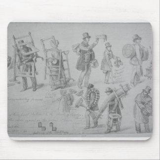Commerçants de rue de Londres, 1830-40 Tapis De Souris