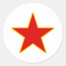 Communistische Rode Ster Ronde Stickers
