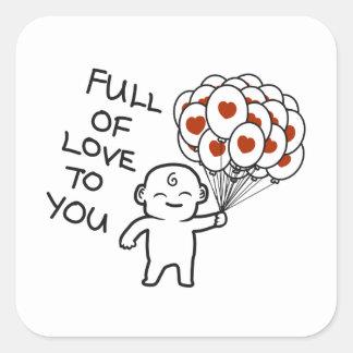 Complètement de l'amour à vous autocollants
