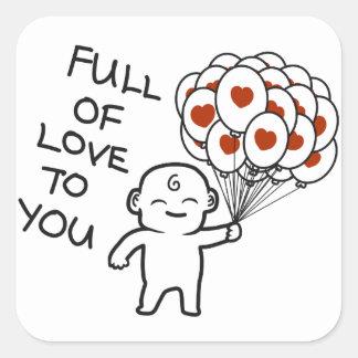 Complètement de l'amour à vous sticker carré