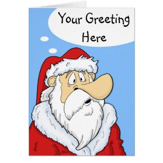 Complétez la carte de Noël comique de Père Noël de