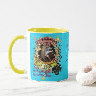 Compositeur animal Handel de dauphin drôle de Mug