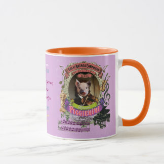 Compositeur animal Paganini de porc mignon de Mug