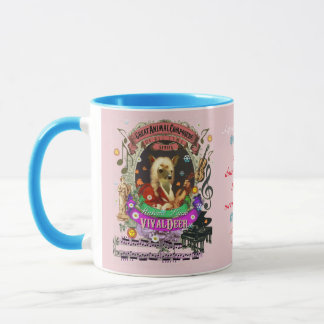 Compositeur animal Vivaldi de faon drôle de cerfs Mug