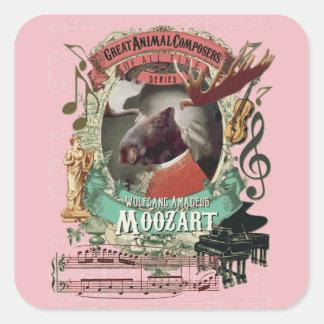Compositeurs d'animal d'orignaux de Wolfgang Sticker Carré