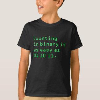Compte dans la binaire t-shirt