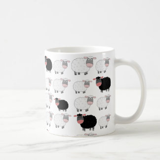 Compte des moutons mug blanc