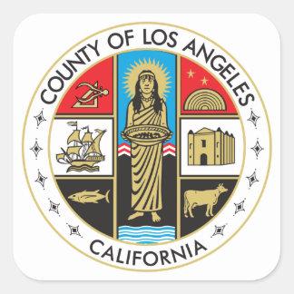 Comté de Los Angeles Sticker Carré