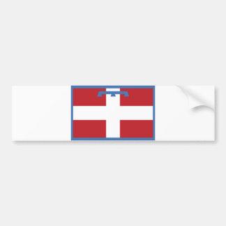 comté de pays de l'Italie de drapeau de région de  Autocollant Pour Voiture