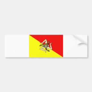 Comté de sicilia de l'Italie de drapeau de région  Autocollant De Voiture
