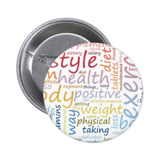 Concept de forme physique pour la perte de poids badge rond 5 cm