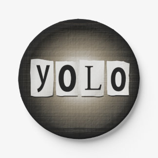 Concept de YOLO Assiettes En Papier