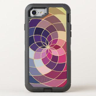 Conception abstraite colorée extraordinaire coque otterbox defender pour iPhone 7