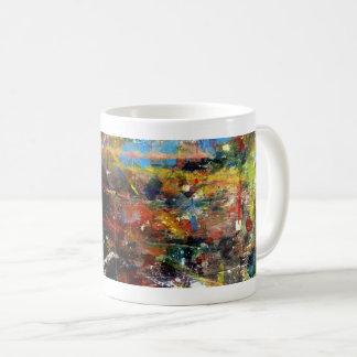 Conception abstraite de tasse de café d'expression