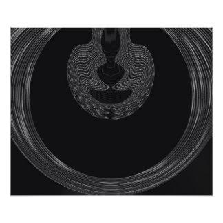 Conception abstraite sur l'arrière - plan noir impression photo
