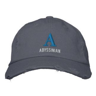 Conception abyssinienne de monogramme de chat casquette de baseball