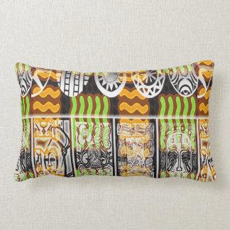 Conception africaine de motif coussin rectangle
