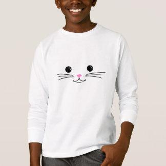 Conception animale mignonne de visage de chat de t-shirt