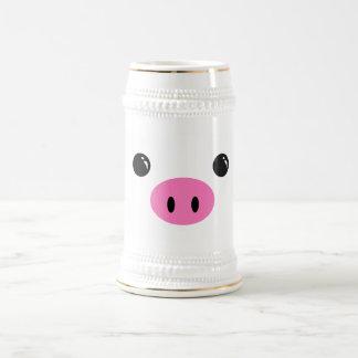 Conception animale mignonne de visage de porcelet chope à bière