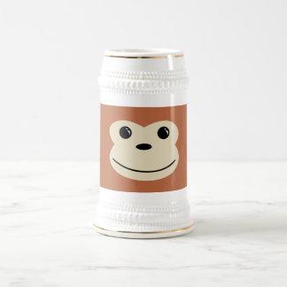 Conception animale mignonne de visage de singe chope à bière