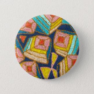 Conception assez perlée d'art déco badge rond 5 cm