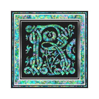 """Conception bleue 8"""" de Masselle de monogramme de Toiles"""