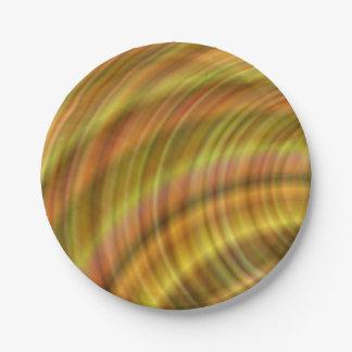 Conception colorée d'or assiettes en papier