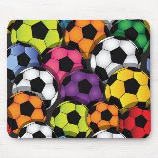 Conception colorée Mousepad de ballons de football Tapis De Souris
