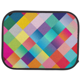 """Conception colorée multi"" Tapis De Voiture"