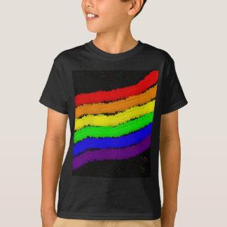 Conception d'abrégé sur arc-en-ciel de Moma T-shirt