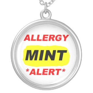 Conception d'allergie de menthe d'alerte collier