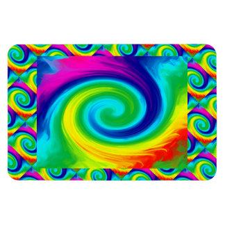 Conception d'art abstrait de remous d'arc-en-ciel magnet flexible