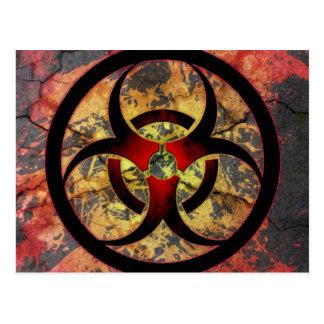 Conception d'art de Biohazard Carte Postale