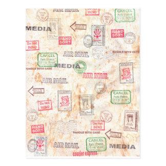Conception d'art de courrier cartes postales