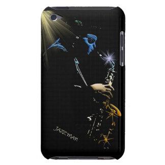 Conception d'art de joueur de jazz de saxophone coques barely there iPod