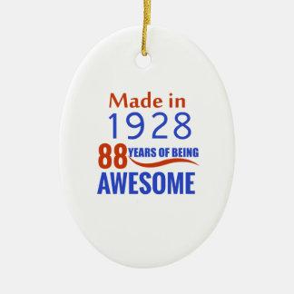 conception de 88 anniversaires ornement ovale en céramique