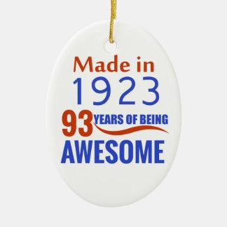 conception de 93 anniversaires ornement ovale en céramique