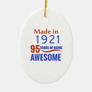 conception de 95 anniversaires ornement ovale en céramique