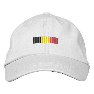 Conception de casquette de drapeau de la Belgique