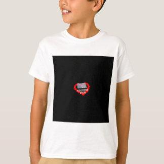 Conception de coeur de bougie pour l'état de la t-shirt