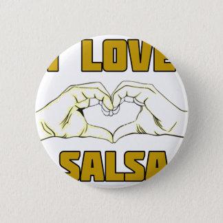 conception de danse de Salsa Badge Rond 5 Cm