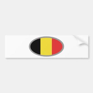 Conception de drapeau de la Belgique ! Autocollant Pour Voiture