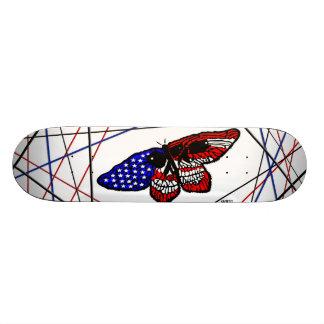 Conception de drapeau de papillon/crâne/États-Unis Plateaux De Skateboards Customisés