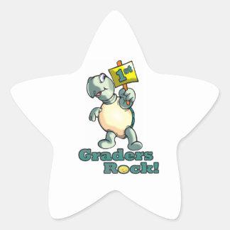 """Conception de """"?ère roche de niveleuses"""" de tortue sticker étoile"""