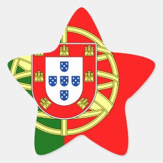 Conception de flage du Portugal Sticker Étoile