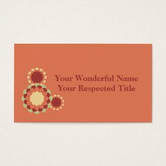 Conception de fleur cartes de visite