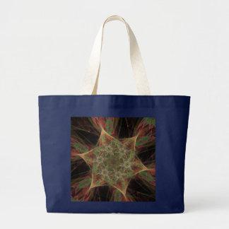 Conception de fleurs d'étoile de fractale grand tote bag